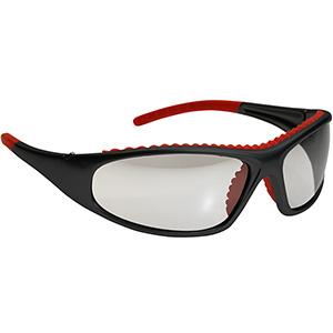 Bouton FlashFire Safety Glasses Green Mirror Anti-Fog Lens Silver Frame