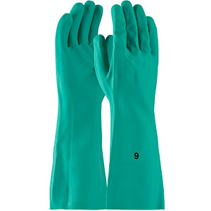 "SOLD BY THE DOZEN 1UH0027 CHEMICAL RESISTANT GREEN NITRILE  SIZE 8/"" BOSS"