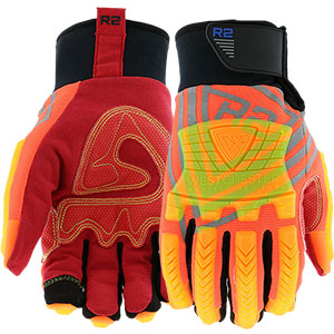 Green Impact Mechanics/' Gloves 89305 Size M-2XL Extreme Work™ Strike ProteX™
