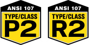 ANSI 107 - Type/Class P2 and R2